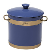 Fiesta 2.8l Double-Walled Ice Bucket with Copper Accents, Lapis