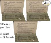 U.S. Military Fire Starter Trioxane Fuel Bars 3 Boxes of 3 Bars = 9 Bars Total