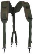 Military Outdoor Clothing Previously Issued US GI OD LC-2 Nylon Suspenders, OD Green, Small/XX-Large
