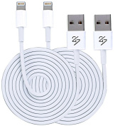 24/7 Cables Lightning Cable 0.9m 8 pin USB Sync Cable Charger Cord iPhone 6 / 6 Plus / 5 / 5s / 5c / iPod 7 / iPad Mini / Retina / iPad 4 / iPad Air (Compatible with iOS 9) [Certified Quality] 2 PACK