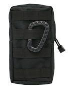 LefRight Black Tactical Molle Accessory EDC Pocket Pouch Sundries Waist Bag with Belt Loop + Carabiner
