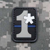 1 Asterisk (1 Ass To Risk) PVC Morale Patch - Rubber Morale Patch, Hook and loop Backed by NEO Tactical Gear