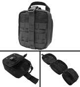 Ultimate Arms Gear MOLLE Rip-Away EMT Medical First Aid Pouch with Buckle Strap and Hook and loop Attachment, Black