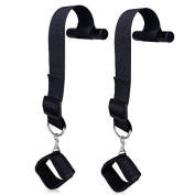 Lovess Swing Handcuffs Adult Sex Products Door Swing Nylon Bondage Restraint Hand Cuffs Straps in Black
