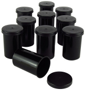Black Film Canister - Sturdy Plastic - for GeoCaching or Small Items