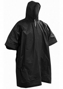 Ponco Rain Coat One Size Fits All Black Geocaching Raincover BW