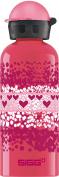 SIGG Kids' Heart Crumble Bottle, Pink, 0.6L