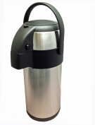 New 3.0 litre stainless steel pump action airpot/flask - Ideal for keeping fluids hot for many hours. by Nextday Catering Supplies