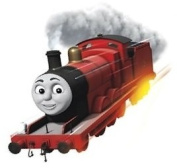 10cm James Red No. Number 5 Thomas the Tank Engine & Friends Removable Wall Decal Sticker Art Home Decor 10cm wide by 7.6cm tall