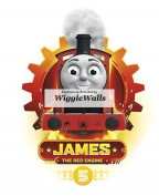 13cm James Red No. Number 5 Thomas the Tank Engine & Friends Removable Wall Decal Sticker Art Home Decor 8.9cm wide by 13cm tall