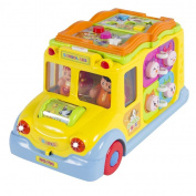 Toy Educational Musical Yellow School Bus Bump'n'Go Headlights Music and Games