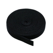 Tiny Dog New Black - 1.9cm X 5 Yard Hook And Loop Fastening Tape Roll