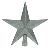 Glitter Star Christmas Tree Topper - Silver (20cm) by Christmas Direct