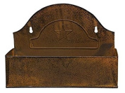 vintage Rusted Mailbox Bin. 29cm Long. Holes for Wall Hanging