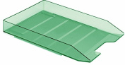 Acrimet Stackable Letter Tray, (Clear Green Colour)