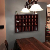 Topeakmart Display Case Wall Mounted Rack Cabinet Shadow Box Solid Wood Espresso