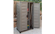 Garden Storage Cabinet with Vertical Partition Colour Brown
