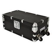 SecureOnCampus College Steamer Trunks / Footlockers Indestructible Large - Black