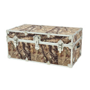 SecureOnCampus College Dorm Storage Trunks / Footlockers Large 80cm L x 46cm W x 36cm H - Camo