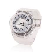 Damara Teens Boy's Silicone Shock Resist Sport Watches,White