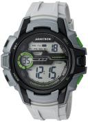 Armitron Sport Men's 40/8375LGY Green Accented Digital Chronograph Light Grey Resin Strap Watch