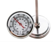 Compost Thermometer, Stainless Steel,Celsius and Fahrenheit Temperature Dial, 50cm Stem