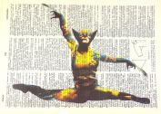 Art N Wordz X-Men Wolverine Ballet Original Dictionary Sheet Pop Art Wall or Desk Art Print Poster