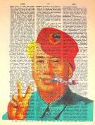 Art N Wordz Mao Zedong Party Original Dictionary Sheet Pop Art Wall or Desk Art Print Poster