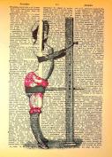 Art N Wordz Gibson Retro Workout Machine Original Dictionary Sheet Pop Art Wall or Desk Art Print Poster