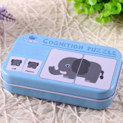 Doober Baby Infant Animal Card Jigsaw Matching Puzzle Cognitive Learning Early Education Toys