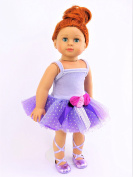 Fabulous Purple Floral Dancer | Fits 46cm American Girl Dolls, Madame Alexander, Our Generation, etc. | 46cm Doll Clothes