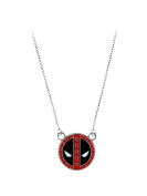 Deadpool Logo Stainless Steel with Gem Pendant Necklace