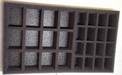 """3"""" Figure Foam Tray Pre Cut Troop 50/50 Slot"""