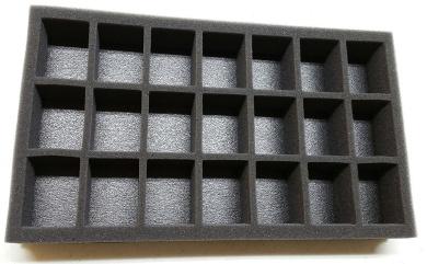 """3"""" Figure Foam Tray Pre Cut Troop 21 Slot"""