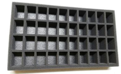 """2.5"""" Figure Foam Tray Pre Cut Troop 40 Slot"""