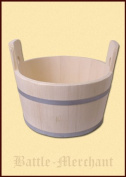 Tub made from spruce wood, approx. 15 Litre Bucket-Painted Wooden Bucket-Mediaeval