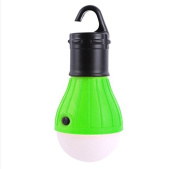 HuntGold Mini 3LED Camping Tent Light [3 Switch Mode] [Battery Operated(3xAAA)] Portable Outdoor Hanging Light Bulb Torch Fishing Lantern Green