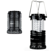 Ideal Products Camping LED Lantern with Ultra Bright Light (Black, Collapsible) - Efficient, Bright and Lightweight Lighting. External Military-grade frame. Reliable in any kind of Emergency - Its Practical Design Saves Space and Weight in the baggage.