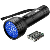 LE 51 LED UV Torch,Pet Urine and Stain Detector,UV Flashlight,Blacklight,395nm,3 AA Batteries Included
