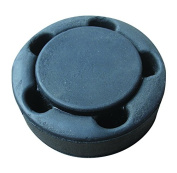 A & R Sports Hockey Puck with Foam Bumpers, Black