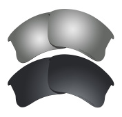 Polarised Lens Replacement Fit for Oakley Flak Jacket XLJ Sunglass 2 Pairs of Lenses Pack N18