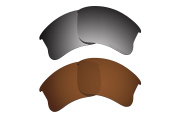 Polarised Lens Replacement Fit for Oakley Flak Jacket XLJ Sunglass 2 Pairs of Lenses Pack N17