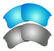 Polarised Lens Replacement Fit for Oakley Flak Jacket XLJ Sunglass 2 Pairs of Lenses Pack N20