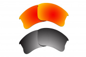 Polarised Lens Replacement Fit for Oakley Flak Jacket XLJ Sunglass 2 Pairs of Lenses Pack N15