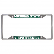 FANMATS NCAA Michigan State University Spartans Chrome Licence Plate Frame
