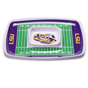 NCAA LSU Fighting Tigers Melamine Chip and Dip Tray