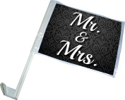 Wedding – Just Married – Mr. and Mrs. - Car Flag – Set of 2