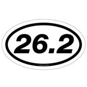 Gone For a Run 26.2 Marathon Car Magnet - White