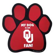 NCAA Oklahoma Sooners Paw Print Car Magnet