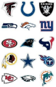 NFL Team Logo Stickers * Set of 50 Football Stickers (All 32 Team Logos and more) 11cm X 7cm Size
